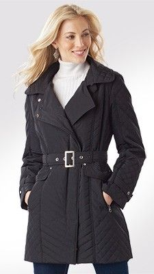 Quilted Trench Coat for Tall Women | Long Elegant Legs