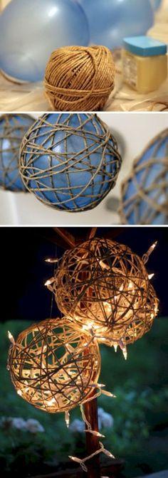 15 DIY Twine Garden Lanterns Home Decor DIY Crafts