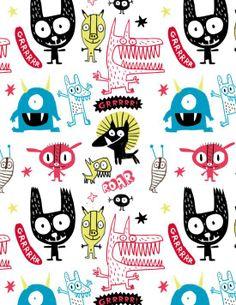 Pattern monstres • monsters | Elise Gravel