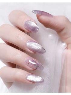 Sun Nails, Feet Nails, Classy Nails, Trendy Nails, Japanese Nail Design, Korean Nail Art, Elegant Nail Art, Natural Nail Designs, Pointed Nails