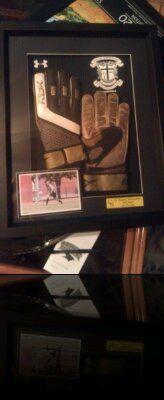 goalie gloves framed