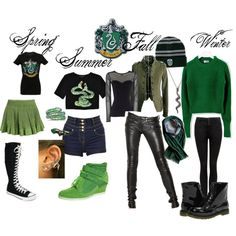 """Slytherin Inspired Outfit"" by shana-askew on Polyvore"
