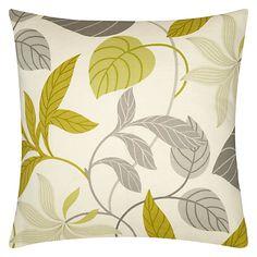 Buy Sanderson Folia Cushion, Lime from our Cushions range at John Lewis & Partners. Green Cushions, Cushions On Sofa, Throw Pillows, Decorative Cushions, Decorative Items, Shades Of Green, Green And Grey, Framed Artwork, Color Schemes