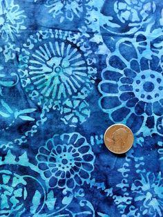 In The Beginning Fabrics Blue Graphix Flower by BeaverheadSupplies