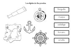 Están son algunas fichitas que hemos realizado en el Proyecto de LOS PIRATAS Pirate Birthday, Sea, Preschool, Brown, Google, Alphabet, Hunting, Ocean, Kindergarten