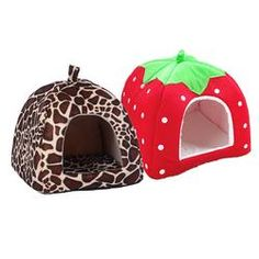 Dog Beds/Mats Pet Cat House Foldable Soft Winter Leopard Dog Bed Strawberry Cave Dog House Cute Kennel Nest Dog Fleece Cat Bed *** Click the VISIT button to enter the AliExpress website Cave Dog Bed, Cat Cave, Canis, Food Dog, House Tent, Cat Tent, Dog Fleece, Warm Bed, Dog Houses