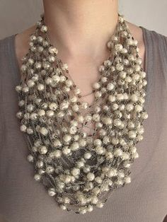 JEAN FRANCOIS MIMILLA, silk and glass bauble necklace