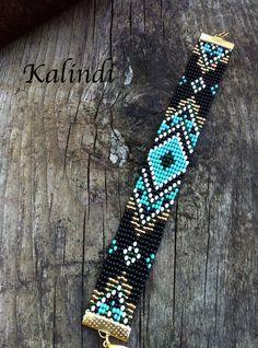 bead weaving patterns for beginners Loom Bracelet Patterns, Bead Loom Bracelets, Beaded Jewelry Patterns, Bead Loom Patterns, Beading Patterns, Beading Ideas, Knitting Patterns, Art Patterns, Mosaic Patterns
