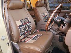 ランクル80 ペンドルトンコラボシートカバー(運転席) Toyota Landcruiser80 seat cover : PENDLETON and flexdream collaboration. FZJ80G