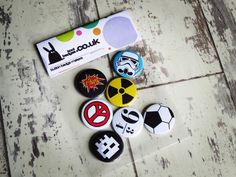 A great set of button badges. All hand made in the UK & we deliver to customers worldwide.