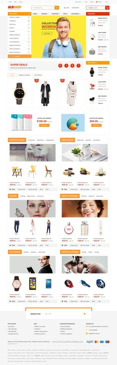 AloShop is a modern, clean and professional 12 in 1 Bootstrap HTML #Template for multipurpose #eCommerce website. #onlinestore Download Now!