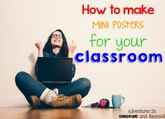 How to Print Mini Posters by Adventures in Kinder and Beyond!