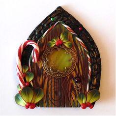 Elf Door Pixie Portal  Miniature Fairy Door for the by Claybykim