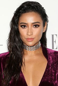 Shay Mitchell in a floor-length number from Attico