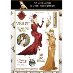 Debbi Moore Designs Art Deco Clear Stamp Set Paris