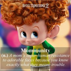 Look at that adorable face! Thankfully, I have some mommunity and can also see the mischief in those eyes. - - In theaters September 25 Hotel Transylvania 2 2015, Dracula Hotel Transylvania, In Theaters Now, Favorite Cartoon Character, Family Movies, Photo Wall Collage, All Smiles, Cute Faces, Disney Cartoons