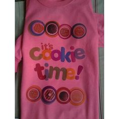 Girls scout its cookie time shirt www.facebook.com/bigheadsuniqieboutique #handmade