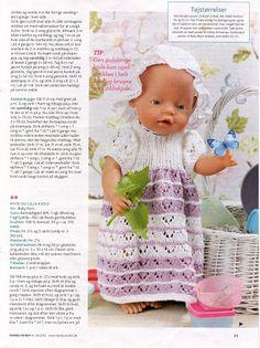 Billede: Knitting Dolls Clothes, Doll Clothes Patterns, Doll Patterns, Clothing Patterns, Crochet Dolls, Knit Crochet, Crochet Hats, Disney Dolls, Barbie Dolls