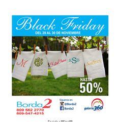 Hasta 50% de Descuento en Black Friday- Borda2 809.562.2770