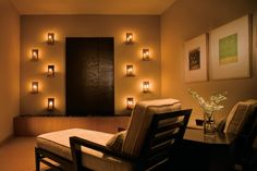 meditation room with candles