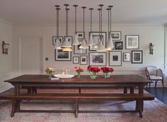 Home Beard beard john deere Dining Room Inspiration, Interior Inspiration, Beautiful Dining Rooms, Rustic Elegance, Residential Architecture, Decorating Blogs, Cool Lighting, Dining Room Table, Room Decor