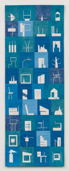 """Erin Wilson Quilts, Shape Study #9, 18"""" x 48"""" (available)"""