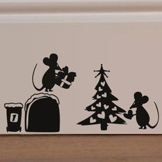Cartoon mouse hole rat hole Wall Art Stickers for Kids Rooms Decal DIY Home Decoration Decor Mural Decals