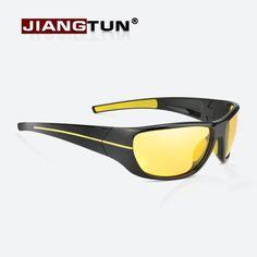 Hot Deals $7.80, Buy JIANGTUN New Night Vision Sunglasses Men Brand Designer Fashion Polarized Night Driving Enhanced Light At Rainy Cloudy Fog Day