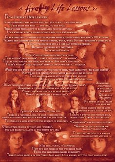 Firefly Life Lessons. Final episode of the show was 10 years ago can you believe it?