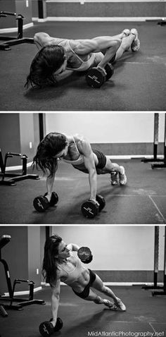 renegade rows with pushup. I would do few, in very controlled motion. Sorry, I don't want to look like Ahnold. - SP