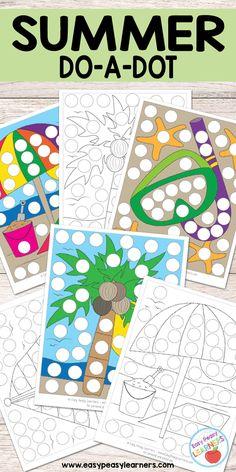Summer - Do a Dot Printables