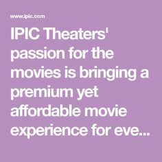 IPIC Theaters' passion for the movies is bringing a premium yet affordable movie experience for everyone. Butter Poached Lobster, Michael Kors Gifts, Rolled Roast, Angus Burger, Spicy Aioli, Crispy Wonton, Cilantro Lime Sauce, Truffle Fries