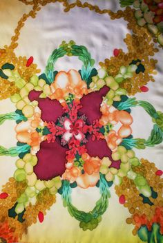 """Image of """"Spring"""" hand-painted silk scarf by Asta Masiulyte, http://astasilk.com"""