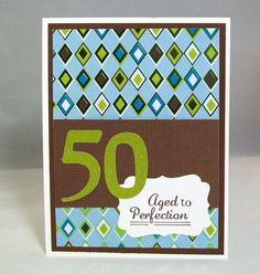Handmade 50th Birthday Card  50 Aged to by AcarrdianCards on Etsy, $3.95