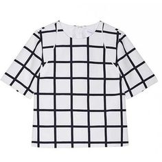 Star Eyes Boxy Blouse in Check Print