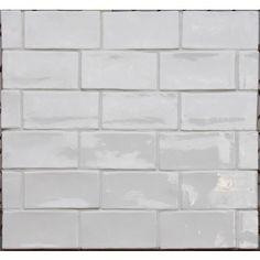 Betonbrick white glossy