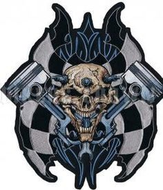 x Patch Lethal Threat Beer 101, Lion Sculpture, Patches, Skull, Spark Plug, Statue, Fabric, Leather, Art