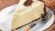 Relish this pecan-crusted eggnog torte - a delectable frozen dessert.