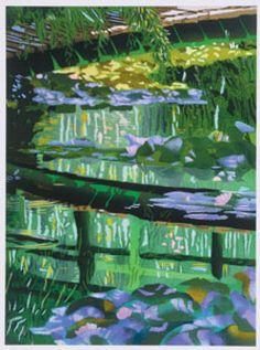Giverney Sunset Silkscreen Print by Brendan Neiland