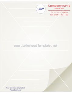 Plain letterhead template