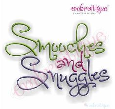 Smooches and Snuggles Alphabet - 5 Sizes! | Mini Designs | Machine Embroidery Designs | SWAKembroidery.com Embroitique