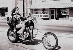Liberty  See more Girl On Bike : http://vintagepinupgirl.blogspot.com/2013/02/girls-on-bike.html  #Black and White #motorcycles #Vintage #Girl #Onthe road #Paradise