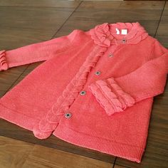 Sweater Wool cozy coral Anthropologie Sweaters Cardigans
