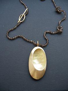 Kette Silber Gold n°34 - Letizia Plankensteiner –Schmuckunikate Wien…