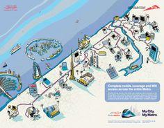 Josh Cochran - Dubai Metro map