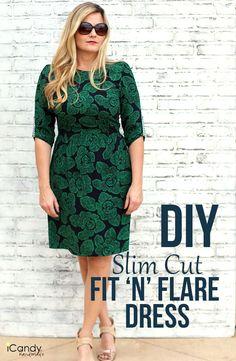DIY Slim Cut Fit 'n' Flare Dress /iCandy handmade
