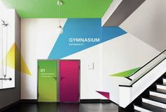 + Rebranding Toronto Highschools by Yana Stepchenko Environmental Graphic Design, Environmental Graphics, Wayfinding Signage, Signage Design, Corporate Design, Wall Design, Home Design, Interior Design, Office Graphics