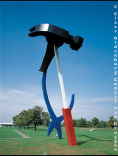 """Balancing Tools — Claes Oldenburg & Coosje van Bruggen. Balancing Tools was our first private commission, though the site eventually turned out to be a very public one. Rolf Fehlbaum, proprietor of Vitra, a manufacturer of contemporary furniture located near Weil-am-Rhein, Germany, commissioned the sculpture, a surprise gift to his father, Willi for his seventieth birthday, saying that our use of functional subject matter would appeal to his father, who was a """"practical man."""""""