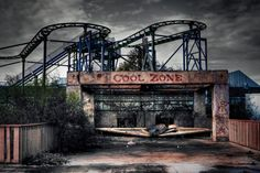 Six Flags New Orleans.  Abandoned after Hurricane Katrina hit.