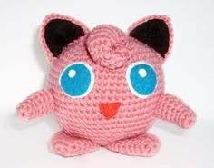 Crochet Amigurumi  ** Jigglypuff **  With Special Thanks to a free pattern by Linda Potts, wolfdreamer-oth.blogspot.com
